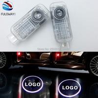 2 X LED Car Door Courtesy Laser Projector Logo Ghost Shadow Light For Audi Sline A8 A7 A5 A6 A4 A3 A1 R8 TT Q7 Q5 Q3 C6 B5