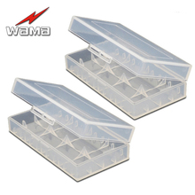 2x Wama Battery Storage Box for 18650/16340 Rechargeable Li-ion Cells  Case Holder in PP Materials Protect Container
