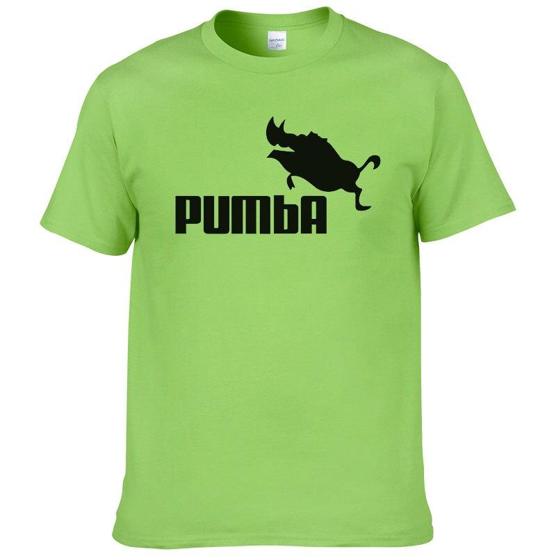 2016 divertido tee t camisas homme Pumba casuales de los hombres tops de algodón de manga corta Camiseta verano jersey traje de camiseta #062