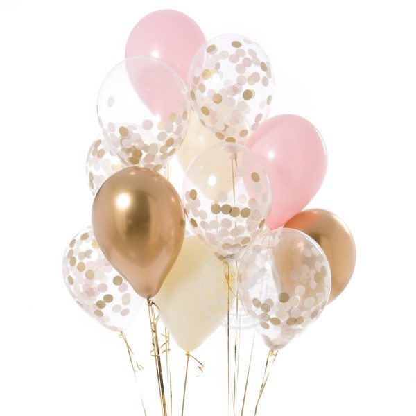 12pcs/lot 12inch new Gold pink blue Balloons gold white pink blue confetti Wedding Birthday Party Decor Helium Supplies