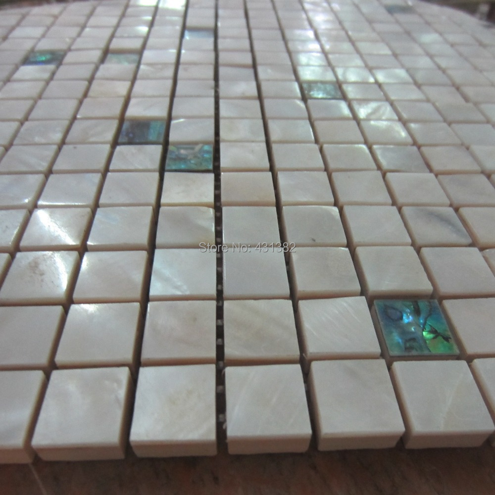 Paua tiles for bathroom - Mother Of Pearl Abalone Shellwith White Shell Tile Mixed Kitchen Backsplash Tiles Ceramic Tiles For Bathroom In Wall Stickers From Home Garden On