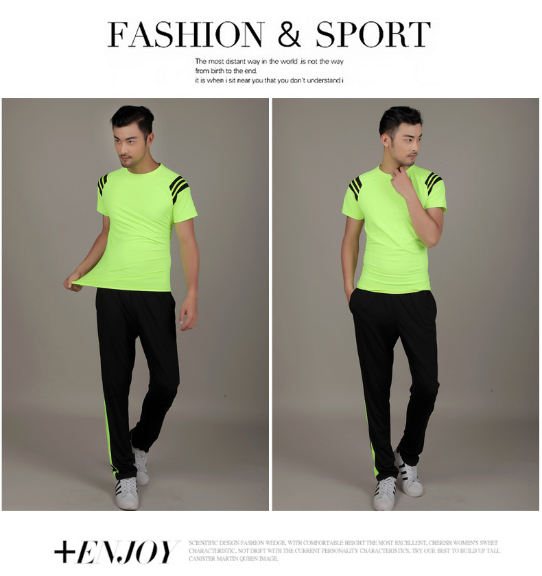 7ca52e5d New Quick-drying breathable summer 2016 men's short-sleeved jogging suit  sportswear large size men's sportswear suit fitness