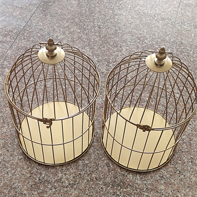 1pcs Continental Iron Birdcage Decorative Window Small Cage Wedding Ornaments Classical Cages