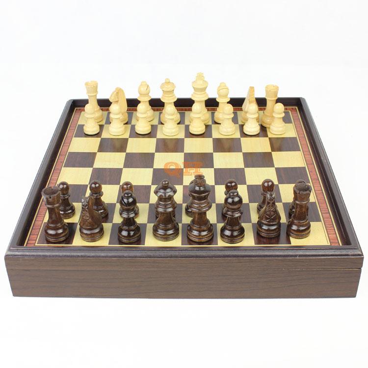 Wooden chess natural wood green paint refined workmanship boxed desktop grade wood gift portable chessboard child fun heat кольцо green wood green wood mp002xw0dwkx