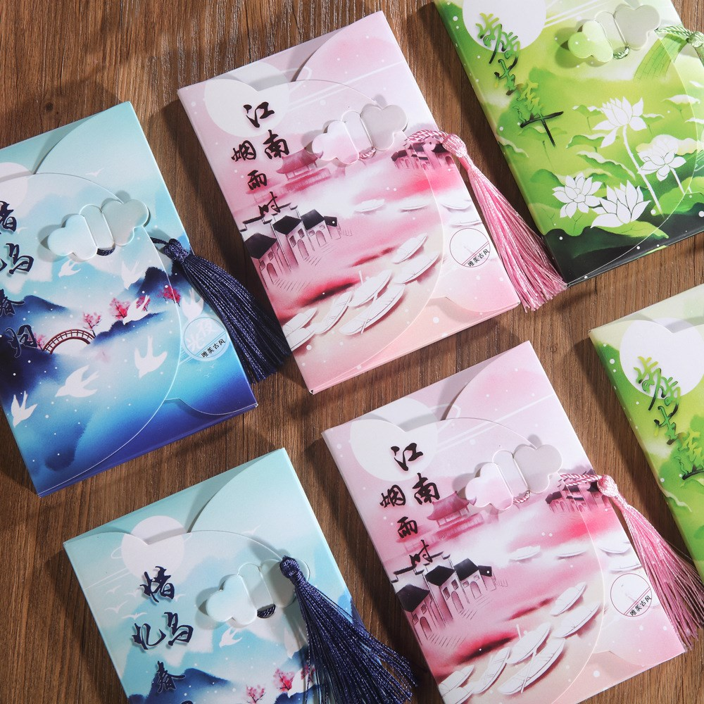 16Sheets/Set Moon Flowers Luminous Card Postcard Greeting Card Message Card Christmas And New Year Gifts