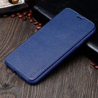 For Fundas IPhone X Flip Smart Cover PU Leather Case X Level Luxury Stand Flip Coque