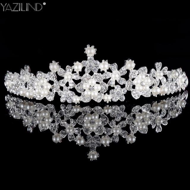 Luxury Wedding Bridal Crystal Tiara Crowns Princess Queen Pageant Prom  Rhinestone Veil Tiara Headband Wedding Hair bd343d67b2eb