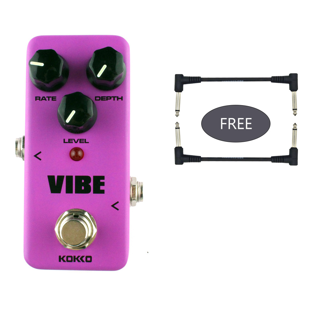 цена на KOKKO vibe Rotary speaker simulator guitar effect Pedal Rotary speaker guitar effects true bypass free 2pcs effects pedal cable