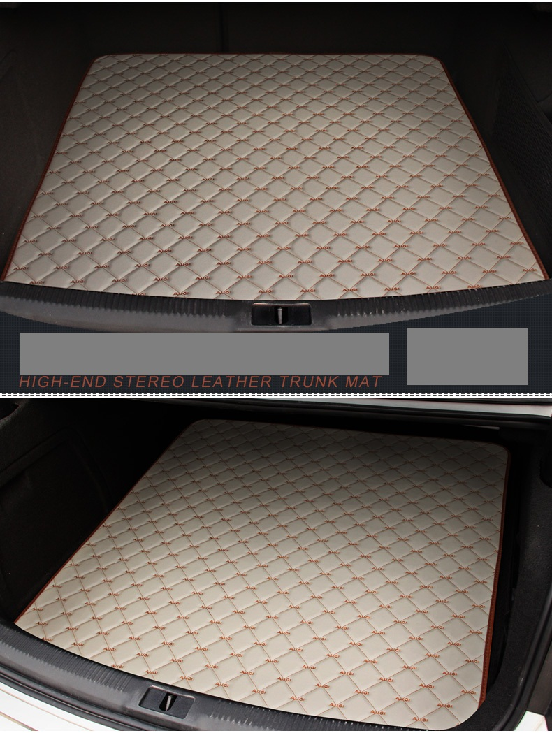 single piece customized car trunk mats for A4L/A6L/Q5/Q3/A3/Q7/A5/A7/A8L waterproof non slip durable carpets easy clean rugs