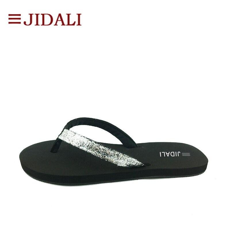 9b7864c72 JIDALI Fashion Shoes Women Bling Slim Flip Flop Flat With Outdoor Slipper  Summer Size 35 41-in Flip Flops from Shoes on Aliexpress.com