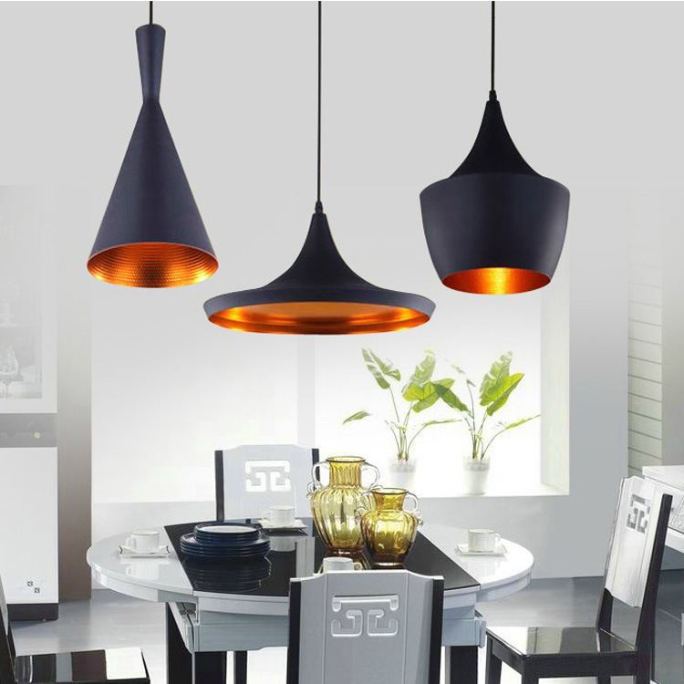 Black Chandelier Lighting Kitchen Vintage Pendant Light: Vintage Pendant Light Outside Black Outside White Inside