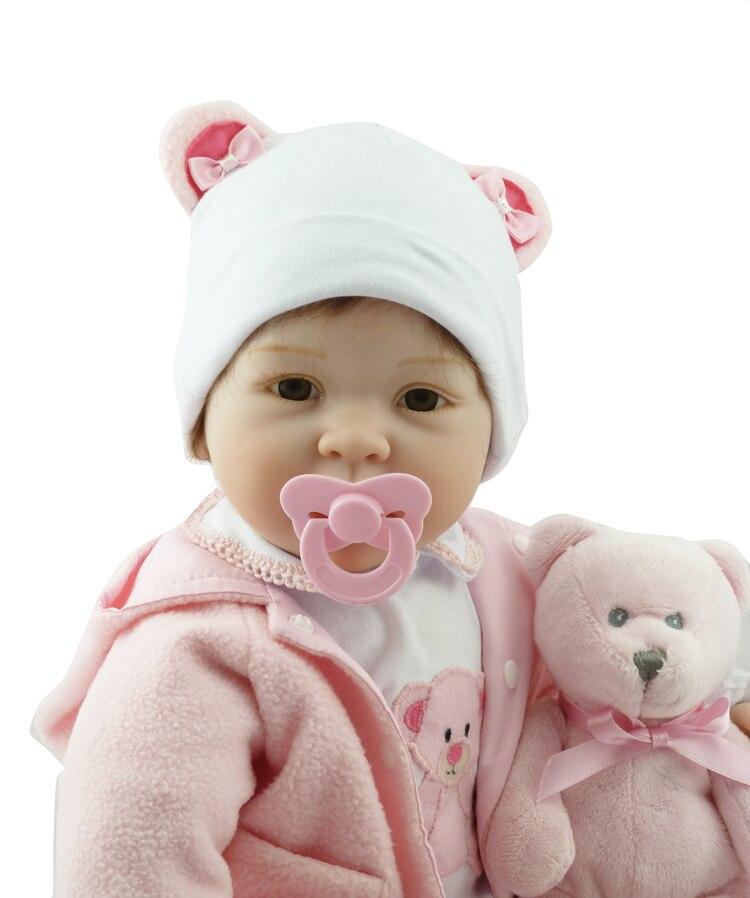 55 centimetri boneca reborn silicone bambole del bambino rinato com corpo de silicone menina bambole del bambino regalo di compleanno per bambini bebe reborn-in Bambole da Giocattoli e hobby su  Gruppo 2