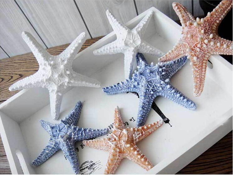 2pcs Lot Resin Starfish Mediterranean Style Decoration Wall Decor Nautical Home Sticker F In Stickers From Garden On
