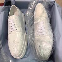 Hanbaidi британский стиль оксфорды с перфорацией повседневная женская обувь на шнуровке Топ Высокое качество кожаные ботинки высокая платформ