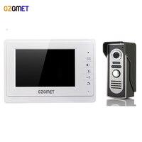 GZGMET WHITE 7 TFT Screen Video Door Phone Intercom IR Camera Building intercom