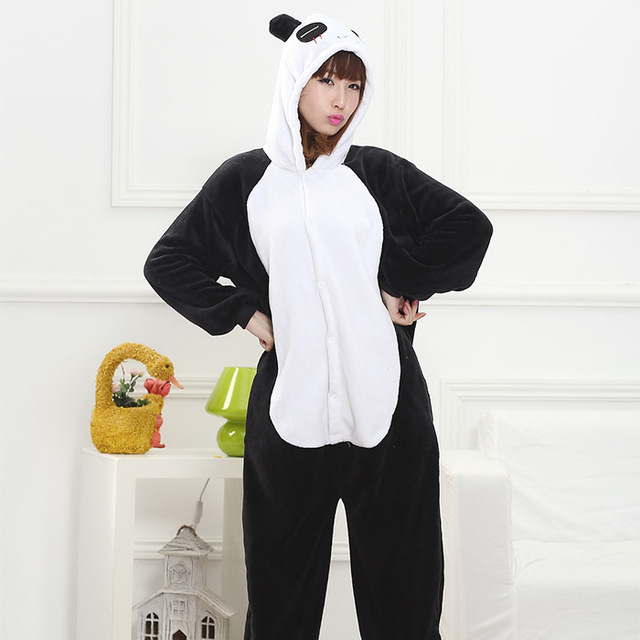 2719574bebd4f Fashion Panda Cartoon Design Animal Cosplay Pajamas Kids Boys Girls Flannel  Sleepers Female Male Pijamas pyjamas Hooded Style-in Pajama Sets from ...
