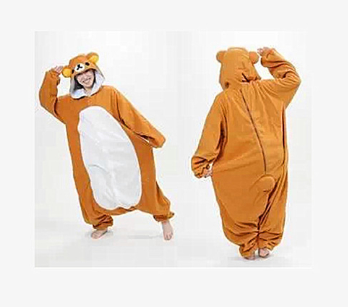 Adult Animal lovely Rilakkuma Pajamas Sleepsuit Big Size Halloween Costumes Cosplay Pyjamas Unisex