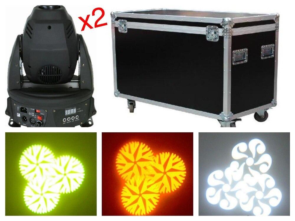 4pcs/Lot+flightcase, RGB 30W / 60W LED Moving Head Spot Light stage DMX gobo effect lighting