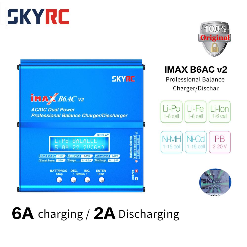 Prix pour SKYRC 100% D'origine IMAX B6AC Chargeur 50 W Lipo Équilibre de La Batterie RC Déchargeur Hélicoptère Quadcopter Avec Power Adapter