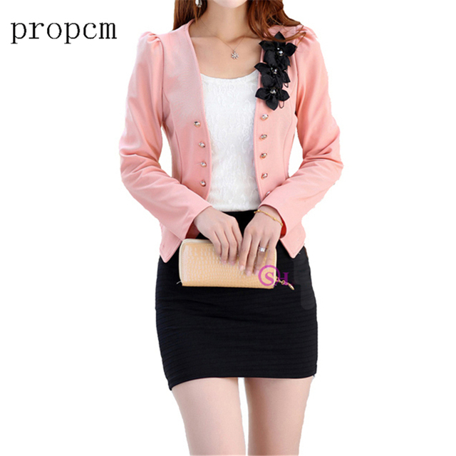Plus Size 5XL Womens Blazer Work Office Women Blazer Long Sleeve Coat Fashion Casual Pink Black Suit Basic Fall Jacket