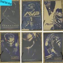 Alien vs. Predator AVP Home Furnishing decoration Kraft Movie retro Poster Drawing core Wall stickers