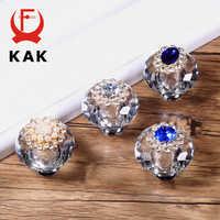 KAK cristal armoire boutons et poignées de luxe armoire tire commode tiroir boutons cuisine poignées meubles poignée matériel