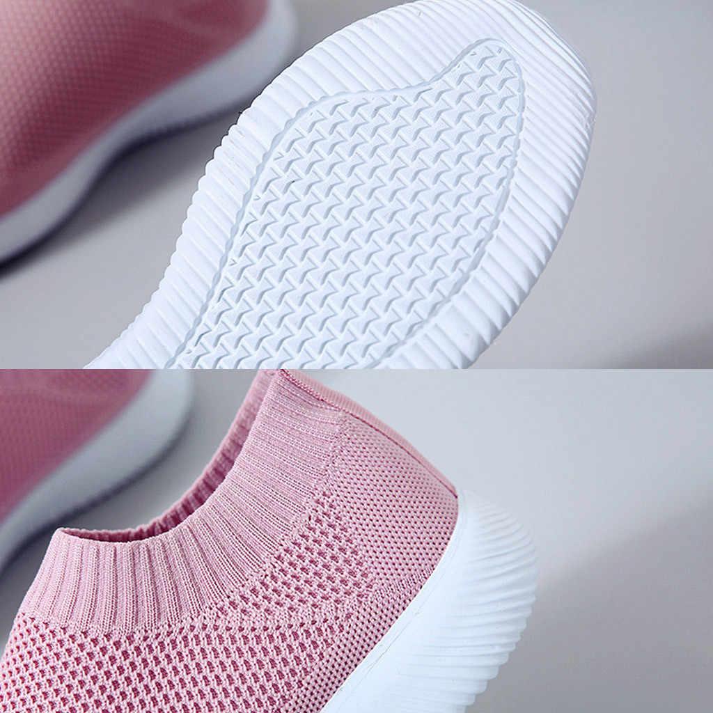 KANCOOLD 35-43 Groot Formaat Mesh Sport Schoenen Vrouwen Mannen Runing Ademend Schoenen Effen Kleur Comfortabele Trainers Slip Sneakers