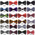 72 Color Mens Clothing Accessories Adjustable Bow Tie Classic Plaid Butterfly Bow Tie Women Wedding Party Necktie TZ15762-2