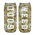 5Pairs  3D Good Weed  Letter  Printed sock Men New Unisex Cute Low Cut Ankle Sock  Cotton sock Casual Charactor Sock 19*8cm