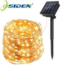 Tira de luces LED solar para exteriores, guirnalda solar, para jardín, navidad, fiestas, a prueba de agua, 7,12 y 22 metros