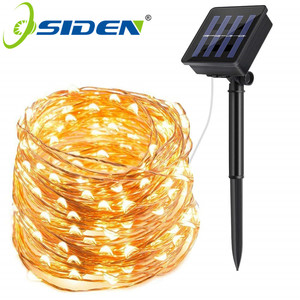 LED Solar Lamp Outdoor 7M 12M 22M LEDs String Lights Fairy Holiday Christmas Party Garland Solar Garden Waterproof Lights(China)