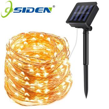 Lampa słoneczna LED na zewnątrz 7M 12M 22M LEDs łańcuchy świetlne wróżka świąteczna girlanda na przyjęcie słoneczne ogrodowe wodoodporne lampki tanie i dobre opinie OSIDEN CN (pochodzenie) ROHS String Light Solar 20 m 2year solar lamp IP65 Miedziane DO DEKORACJI Żarówki LED We współczesnym stylu