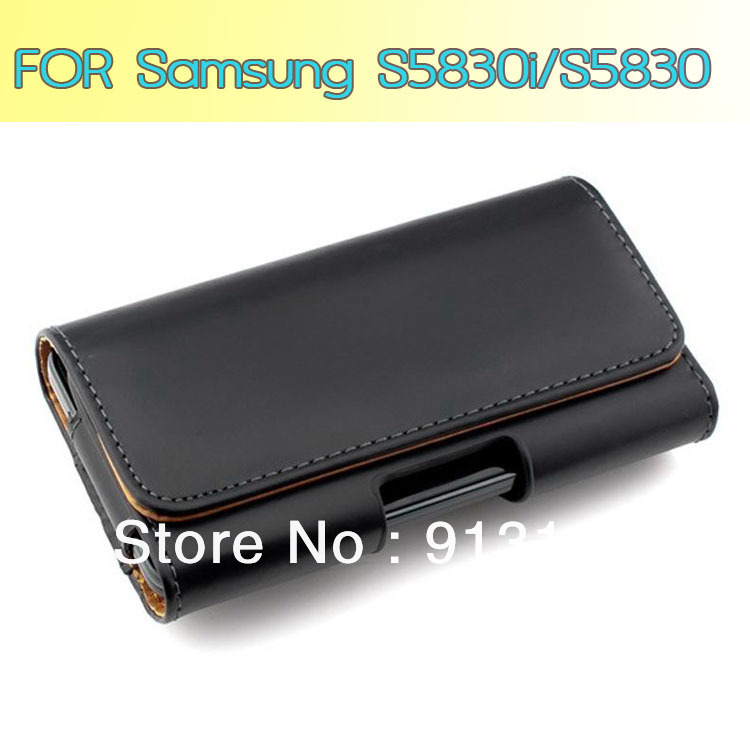 Free Shipping Mobile Phone Bag Holster Belt Clip Flip Leather Case Belt Clip Pouch For Samsung Galaxy Ace S5830 S5830i GT-S5830