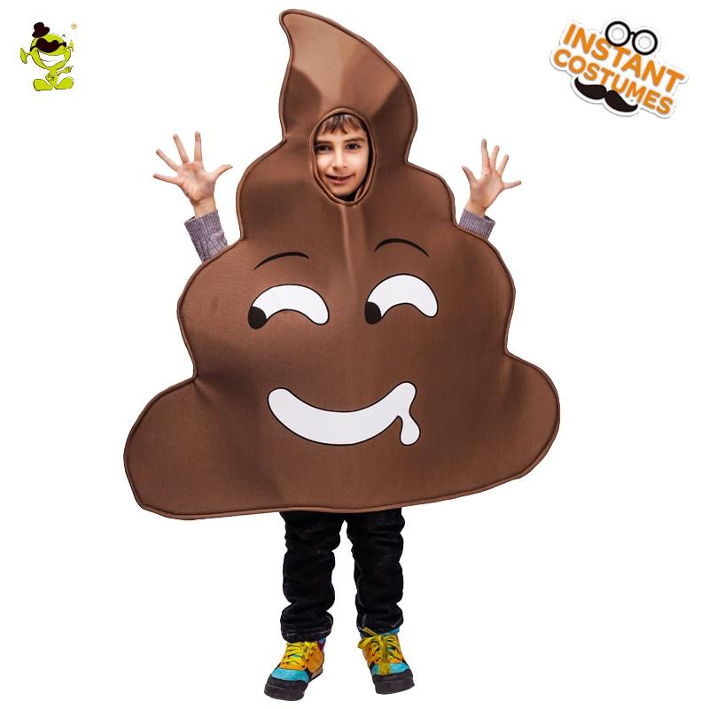 Poop Emoticon Jumpsuit Unisex Emoticon Costume Onesize