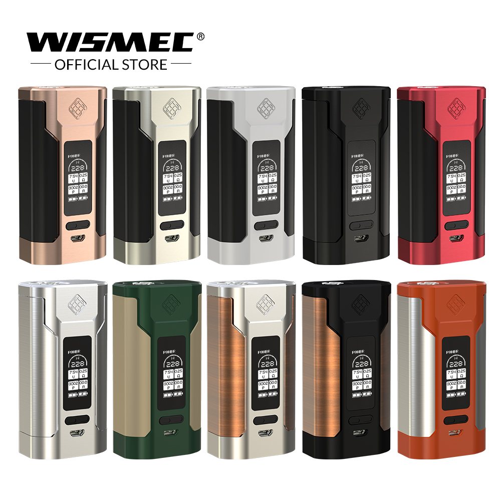 [Official Store] Original Wismec Sinuous P228 TC Box Mod Output 228W output Mod Box Electronic cigarette vape mod fit elabo tank цены