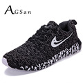 AGSan Men Casual Shoes Trainers Krasovki 2017 Men Lightweight Plus Size 9.5 10 10.5 Shoes Zapatos Hombre Black Grey Blue Shoes