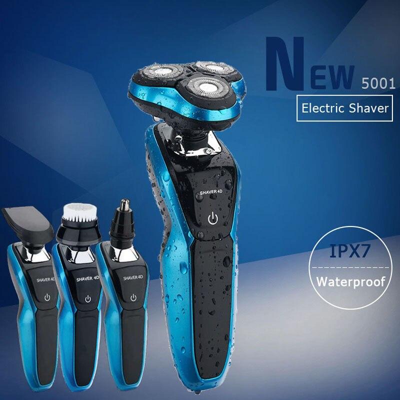 USB de carga de hombre de afeitar impermeable profesional de barba Cuidado Personal herramientas de máquina de tipo test eléctrica de afeitar Kit de