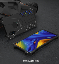 Fashion Superhero Shockproof Aluminum Metal Case For Xiaomi Mi Mix 2S 3 Hard Cover Heat Dissipation Shell Sports+Straps+Holder