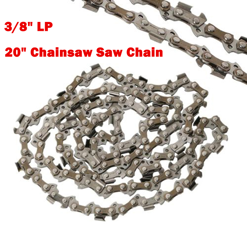 20 Chainsaw Saw Chain Blade 3/8LP .050 Gauge 72DL Shape Blade for Garden Saw Chain Replacement Chainsaw Parts yyp 3c7c 32 5mm finger shape carbide rasp saw blade