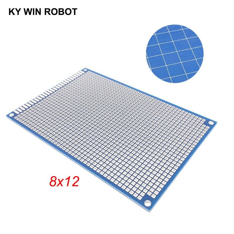 1pcs 8x12cm 80x120 Mm Bule Single Side Prototype PCB Universal Printed Circuit Board Protoboard For Arduino