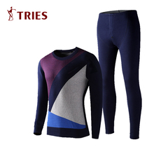 thermal underwear New High Quality Men Long Johns Set Winter Warm Hot-Dry Technology Suit Fashion underwear as outerwear