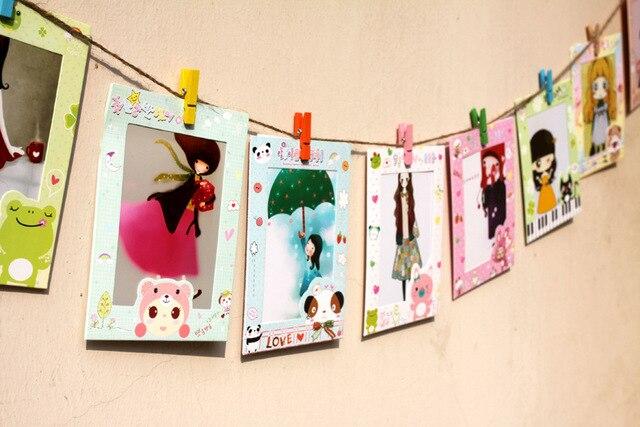 Porta Retrato 9 unids/lote 6 pulgadas marco de fotos de bricolaje ...