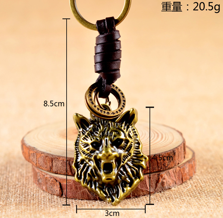 Jewelry & Accessories Initiative 24 Pcs/lot Viking Wolf Keychain 3d Wolf Head Pendant Key Ring Key Chains Charm Cosplay Jewelry Fashion Car Bulk Wholesale Key Chains