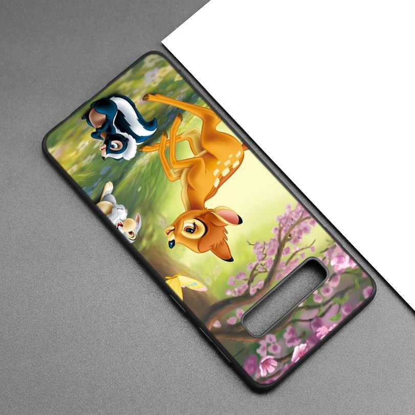 Bambi Thumper Đen Silicone Trường Hợp đối Với Samsung Galaxy M20 S10e S10 S9 M10 S8 Cộng Với 5G S7 S6 Cạnh bìa Coque