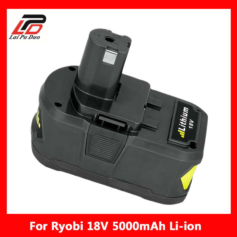 Rechargeable Battery Pack Power Tool Battery for Ryobi 18V 5000Ah P108 RB18L40 Lithium Ion цена