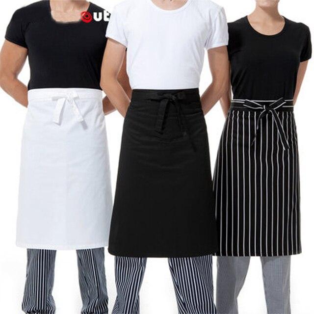Favorite Fashion Korean Waist Apron Cotton Chef Cooking Half Apron White  TQ04