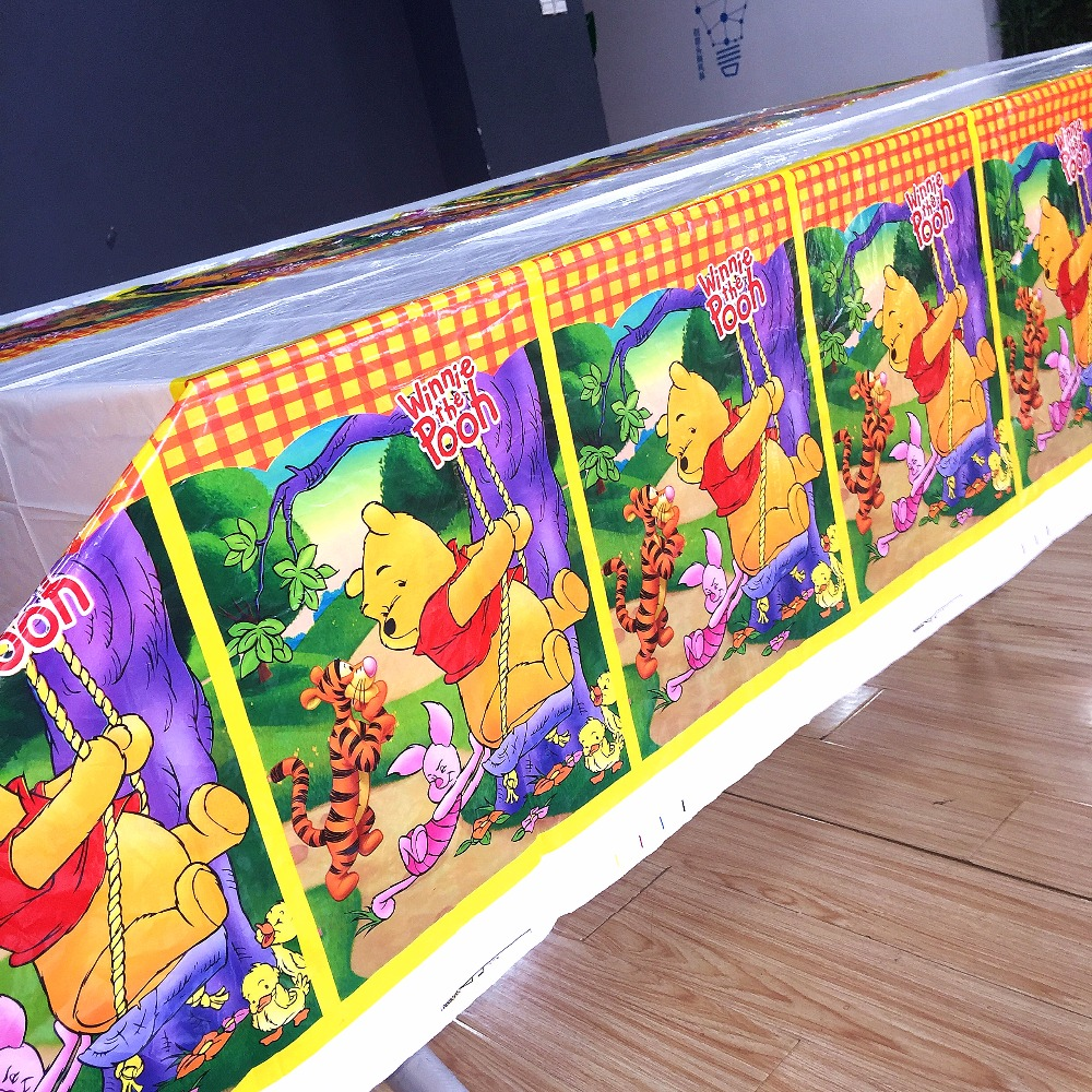 Winnie the Pooh Party Supplies Plastic Tablecloth Birthday Party Decoration Baby Shower Party Supplies Table Cloth