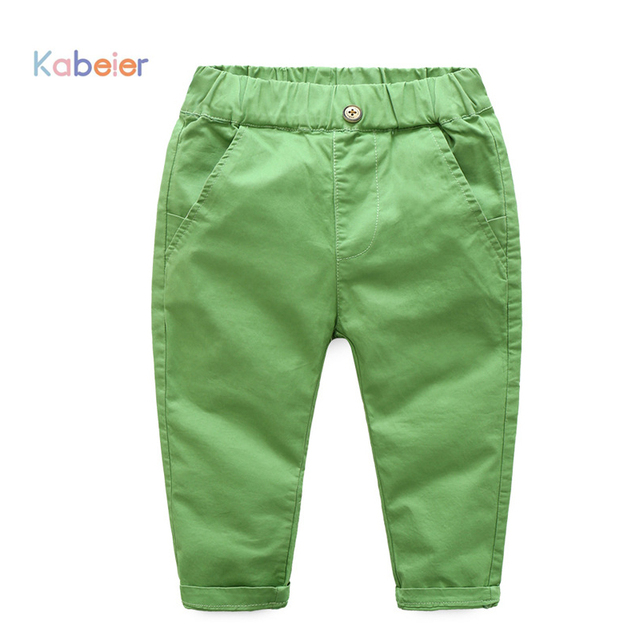 kabeier baby sweat pants boys costume 2017 pencil pants child brown skinny trousers 1-5years