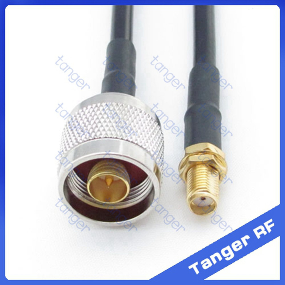 Hot sale Tanger N male plug to SMA female jack connector straight RF RG58 Pigtail Jumper Coaxial Cable 20inch 50cm High Quality цена