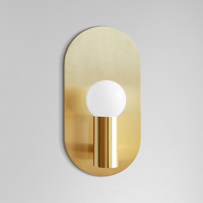 Nordic Creative Wall Lamp Simple Living Room Wall Light Study Brass Light Hallway Bedroom Lamp Bathroom Mirror Headlamps